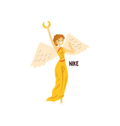 Nike olympian greek goddess ancient greece vector