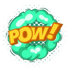 Pow explosion bubble icon pop art style vector