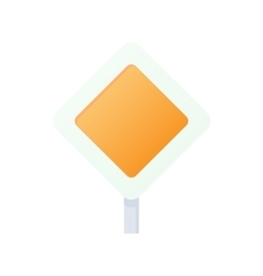 Priority road sign sign icon cartoon style vector image