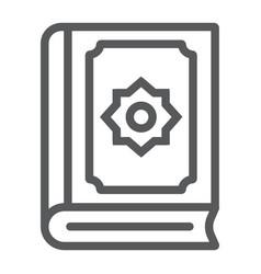 Quran line icon islam and book koran sign vector