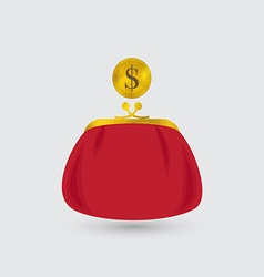 Red Purse and the Coin vector image