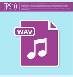 Retro purple wav file document download wav vector