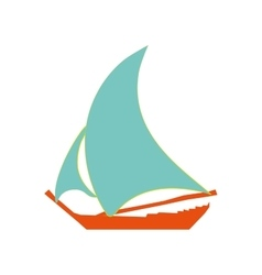 Sailing ship sign pattern vector image