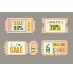 Sale tickets Coupon price promotion discount vector