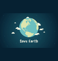 save earth design style vector image vector image