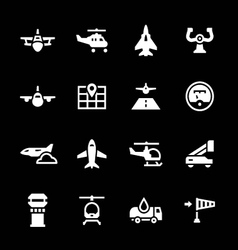 set icons aviation vector image