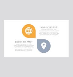 set orange and gray elements for infographic vector image