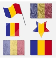 Set with flags of romania vector