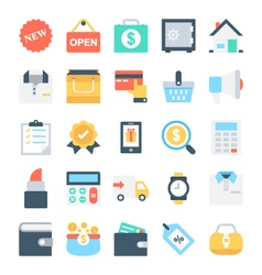 Shopping and E-Commerce Icons 4 vector image
