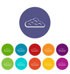 Sky cloud icons set flat vector