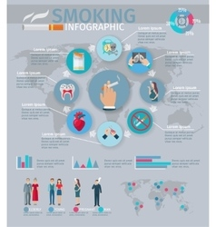Smoking Infographics Set vector