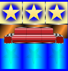 sofa in the night club vector image