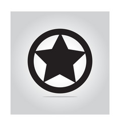 star in circle icon vector image