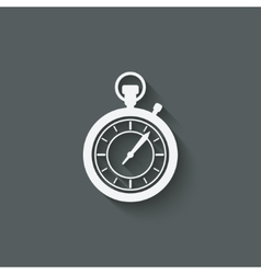 stopwatch design element vector image