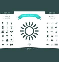 sun line icon vector image