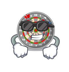 Super cool dartboard in the shape of mascot vector