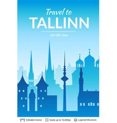 Tallinn famous city scape vector