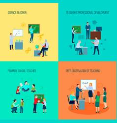 Teacher 2x2 design concept vector