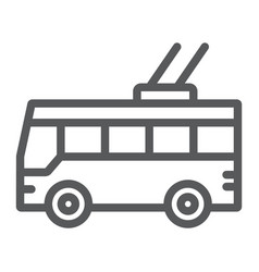 trolleybus line icon transport and public vector image