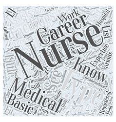 Types of Nursing Careers Know Your Nursing vector
