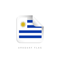 uruguay label flags template design vector image