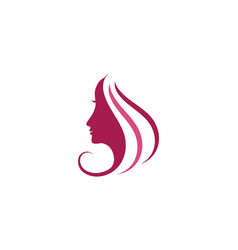 woman face silhouette character vector image