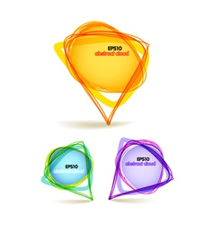 abstract color talking triangle bubbles vector image vector image