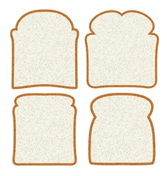 bread slices vector image
