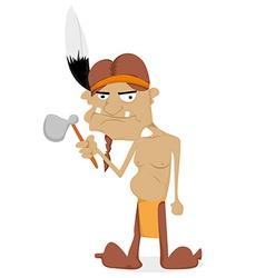 Cartoon Indian vector image vector image
