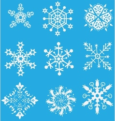 Christmas set snowflake vector image vector image