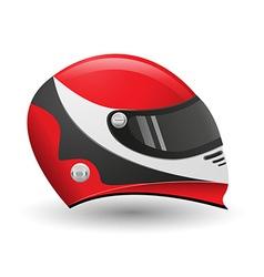 helmet for a racer vector image