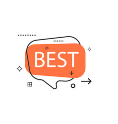 outline speech bubble with best phrase vector image vector image