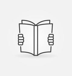 reading a book concept icon vector image