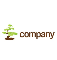 bonsai tree care logo vector image vector image