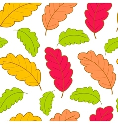 bright pattern with oak leaves-01 vector image
