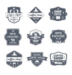 Coffee house - vintage set of logos vector