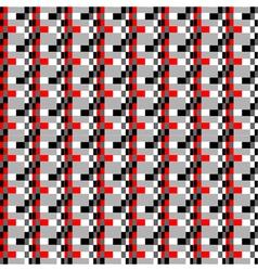 geometric pixels pattern vector image vector image