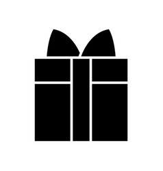 gift box icon black sign on vector image