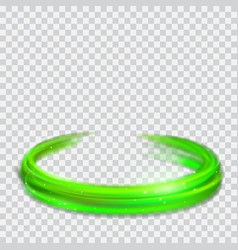 green glowing fire rings with glitters vector image vector image