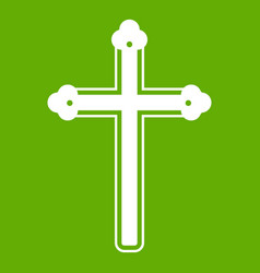 holy cross icon green vector image