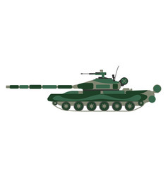 Tank cartoon military equipment icon vector
