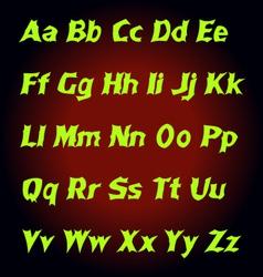 Alphabet Mystic letters vector image