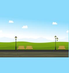 beauty landscape garden for background game vector image vector image
