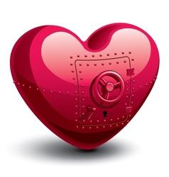 Safe heart vector image