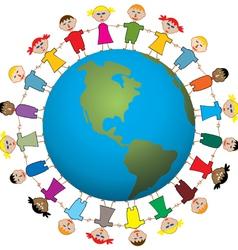 children around the world vector image