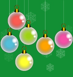 Colorful Christmas balls vector image vector image