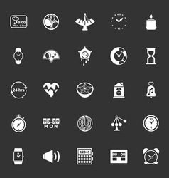 Design time icons on gray background vector image vector image