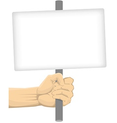 Hand Holding Blank Board vector image