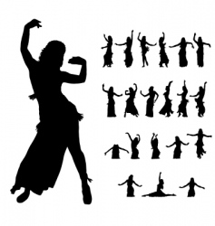 hula dancers vector image vector image
