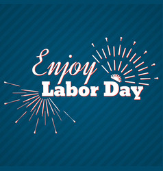 set of labor day a national holiday vector image vector image